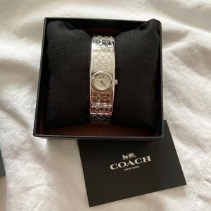 NWOT COACH Women's Scout 16mm silver bangle watch
